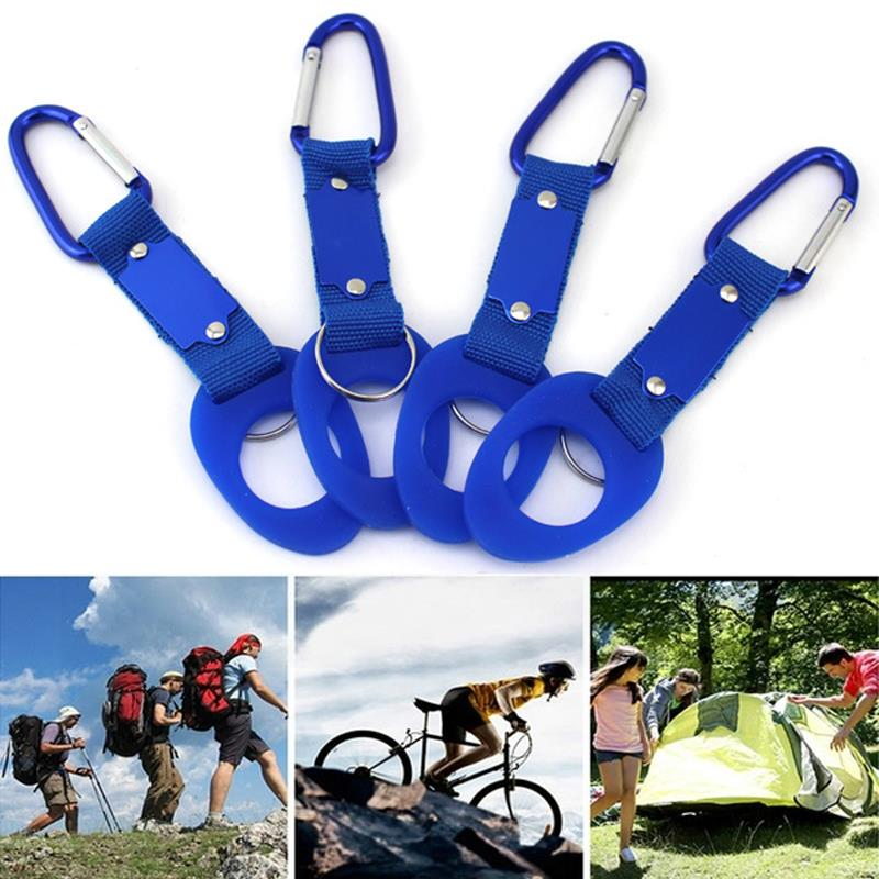 Hiking 4 Color Hang Buckle Water Bottle Buckle Metal Durable Hanging Carabiner Hook Practical Outdoor Travel Tactics