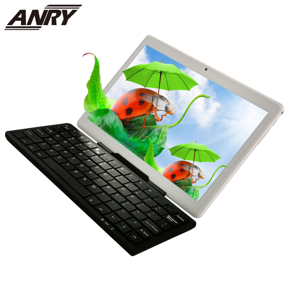 ANRY Tablet Pc 10 Inch Android 7.0 Phablet 4G Lte Phone Call Tab RAM 4 GB ROM 64 GB Octa Core With Wireless Bluetooth Keyboard