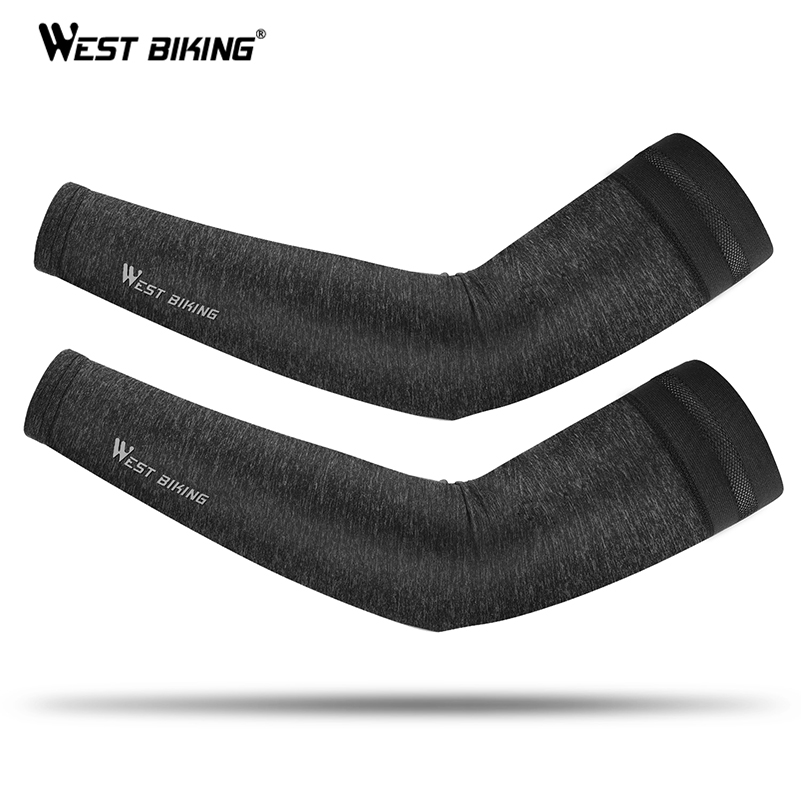 WEST BIKING Cycling Running Arm Sleeve Bicycle UV Protection Cuff Cover Bike Sport Arm Warmers Cool Men Women Cycling Sleeves
