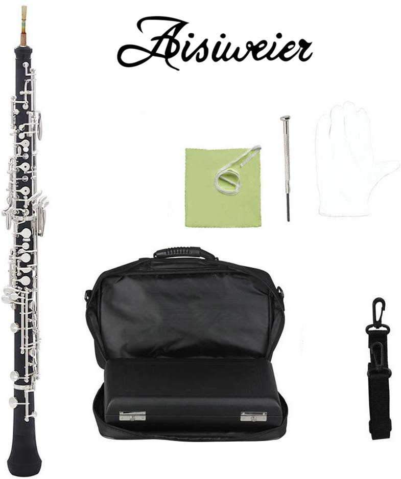 Aisiweier Professional C Key Oboe Semi-automatic Style Cupronickel Plated Silver Fully Automatic Oboe To Enjoy High Reputation At Home And Abroad