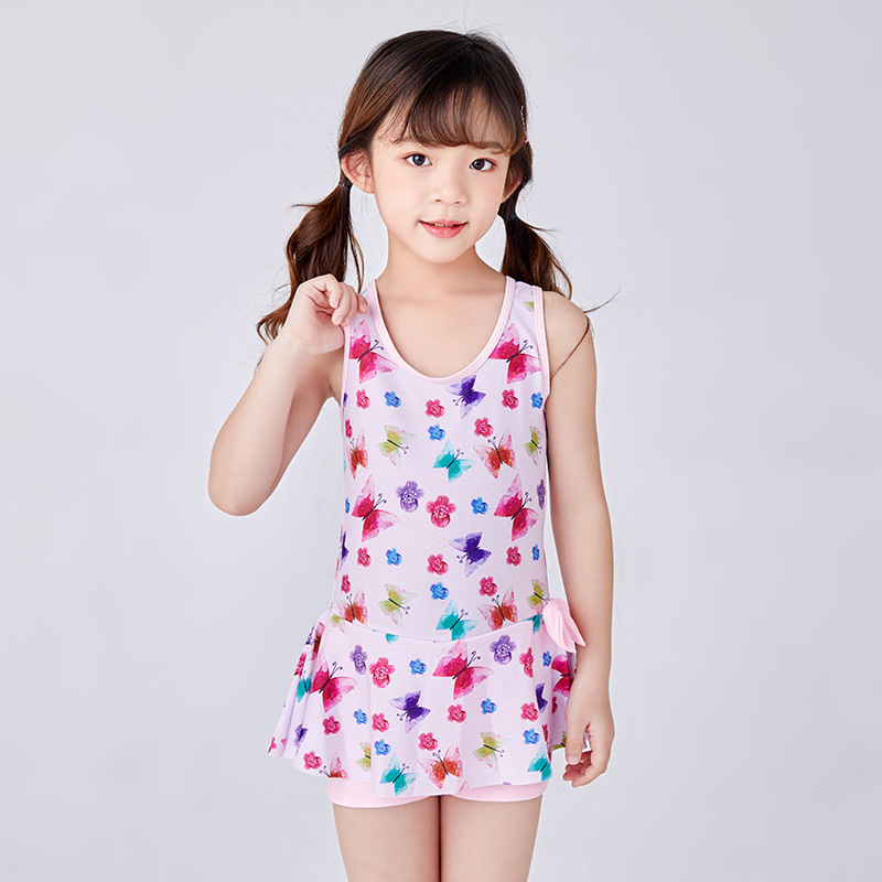 KID'S Swimwear Women's Girls Big Boy Baby One-piece Princess Dress-Cute Small CHILDREN'S GIRL'S 4-12-Year-Old Swimming Suit