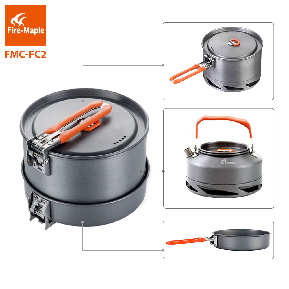 Image 2 - Fire Maple Camping Utensils Dishes Cookware Set Picnic Hiking  Heat Exchanger Pot Kettle FMC FC2 Outdoor Tourism Tablewarecamping  hiking cookwarehiking cookwareoutdoor camping hiking cookware -