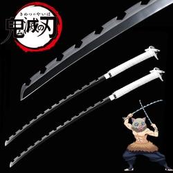 Anime Demon Slayer: Kimetsu No Yaiba Hashibira Inosuke Weapon Cosplay Props-Free Shipping Japanese Katana-Real Steel-Single