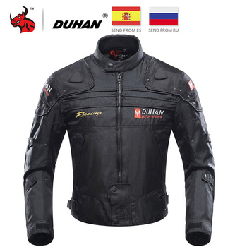 DUHAN Motorcycle Jacket Men Jaqueta Motociclista Motorbike Riding Jacket Autumn Winter Moto Motocross Clothing Black