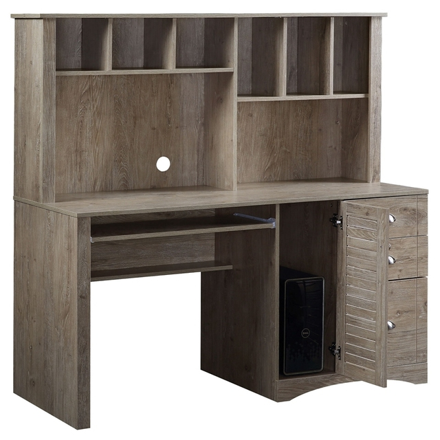 Home Office Computer Desk with Hutch and Drawers 4