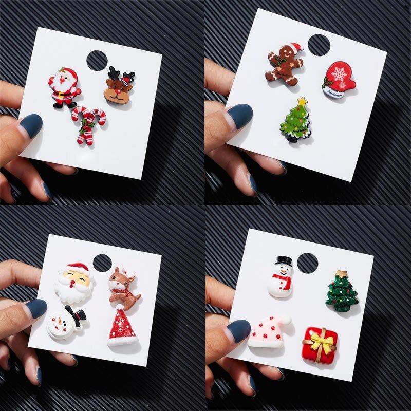 3/для волос (4 предмета), Рождество, брошь в виде картонный набор Санта Клаус Снеговик Брошь «шляпа» женские вечерние новый год акриловые знач...