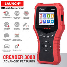 LAUNCH Creader 3008 Scanner support full obd2 + Battery tester function CR3008 OBDII code reader diagnostic tool free update