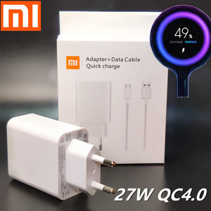 Xiaomi 27W charger Original Fast charge 4.0 Turbo Adapter Type C cable For Xiaomi Mi9 pro Mi9t se 8 6 Redmi note 8 K20 k30 Pro(China)