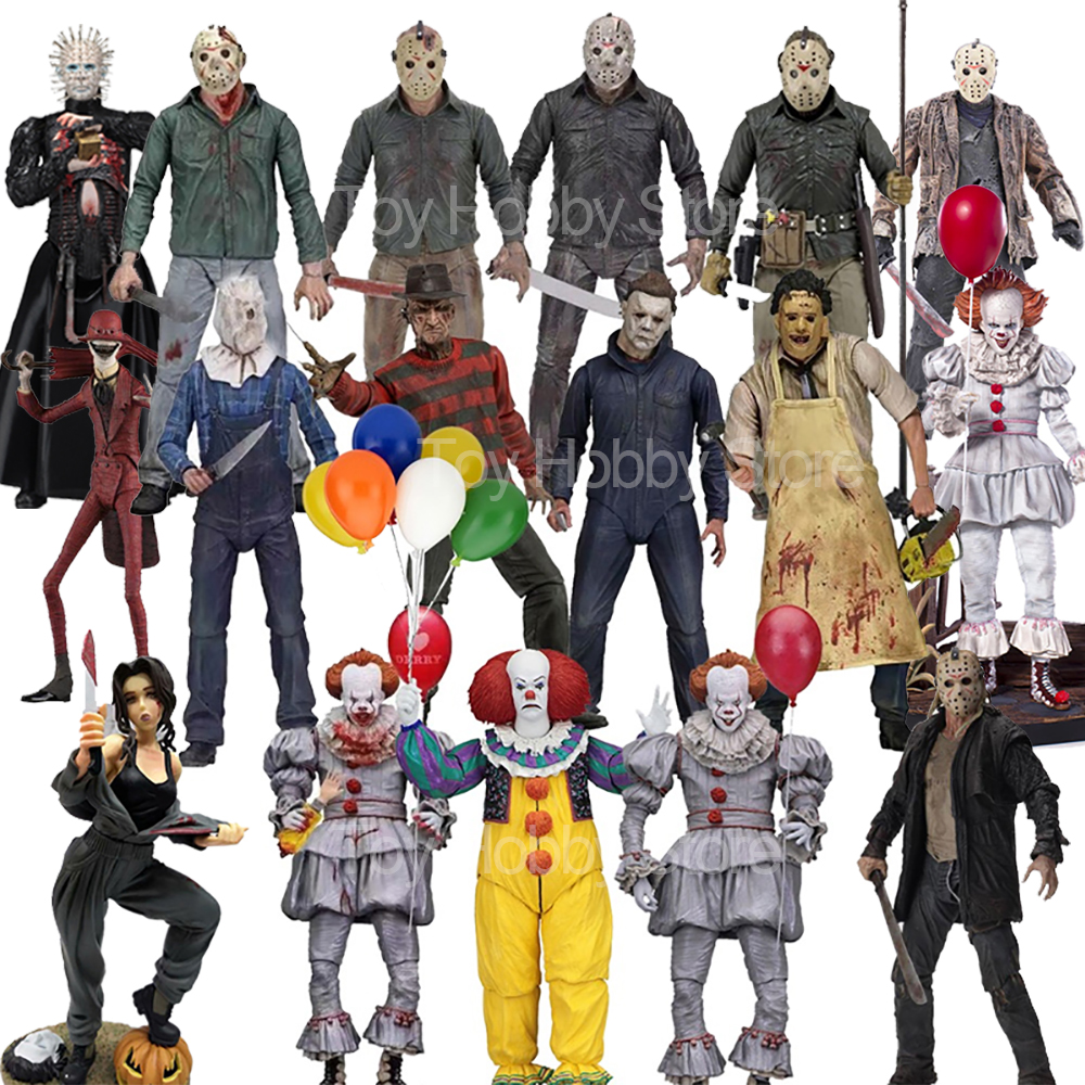 NECA Action Figure The 13th Friday Jason Freddy Krueger Leatherface Chainsaw  Michael Myers IT Pennywise Joker Action Figure Toy