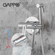 GAPPO thermostatic Bidet faucet Solid Brass Shower Head Tap Bathroom Shower Mixer Tap Bidet Hygienic Shower