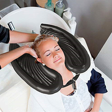 Inflatable PVC Shampoo Basin Shampoo British Portable Air Blowing Travel Shampoo Sink Black Practical New Style 2021