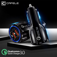 Cafele Quick Charge 3.0 USB Car Charger For Xiaomi iPhone Fast Car Phone Charger For Mobile Phone Universal Car Charging Charger liislee car quick charge fast mobile phone wireless charger car handrails box car armrest box for bmw x1 f48 17 18 car charger