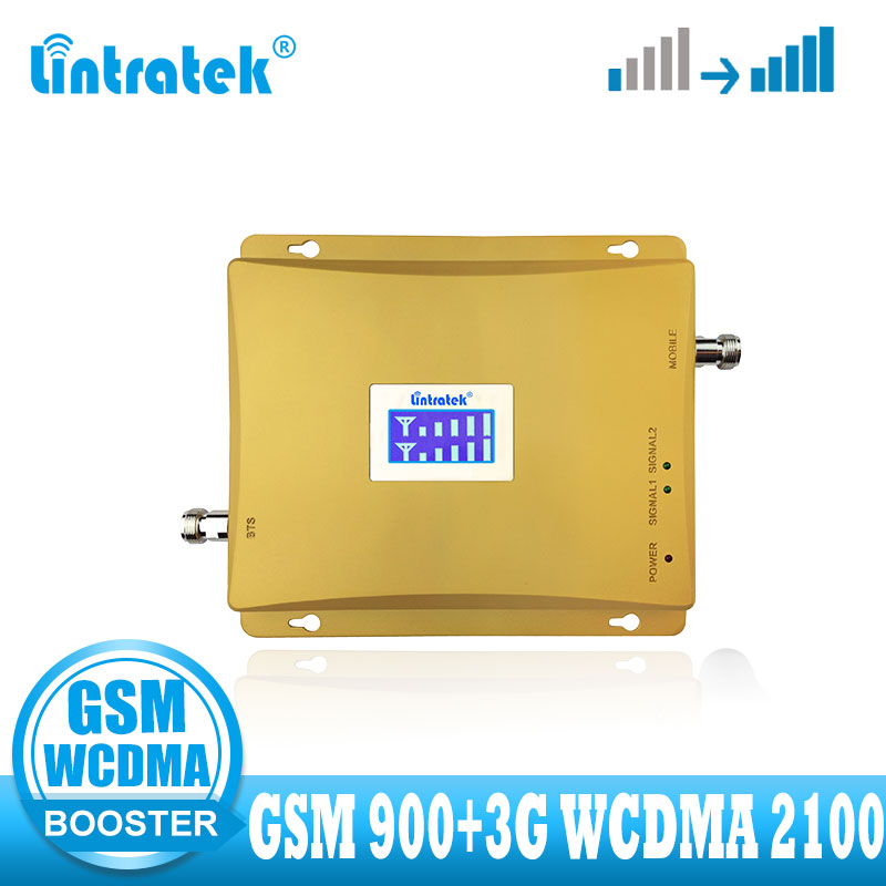 Lintratek Cellular Signal Booster GSM 900mhz 3G UMTS 2100mhz Signal Repeater GSM 900 2100 3G Voice Communication Amplifier