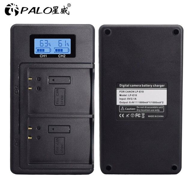 LP E10 LP E10 LPE10 battery charger USB Dual smart fast charger for Canon EOS 1100D 1200D 1300D 2000D Rebel T3 T5 T6 Kiss X50