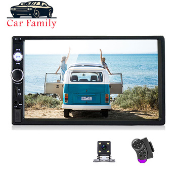 Car Family Universal 2 Din Car Multimedia Player 7 Autoradio Stereo Touch Screen Video MP5 Player Auto Radio Rearview Camera image