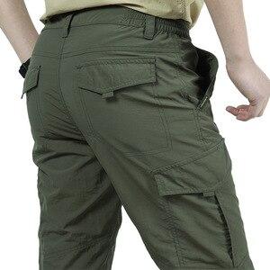 Image 3 - Дышащие легкие водонепроницаемые быстросохнущие повседневные брюки, мужские летние армейские брюки в Военном Стиле, мужские тактические брюки карго