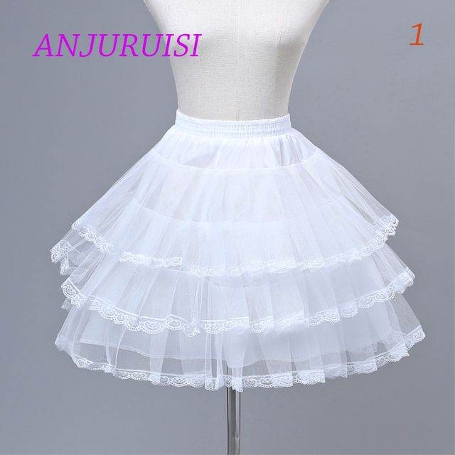ANJURUISI Flower Girls Underskirt Cosplay Party Short Dress Petticoat Lolita Petticoat Ballet Tutu Skirt Rockabilly Crinoline 1