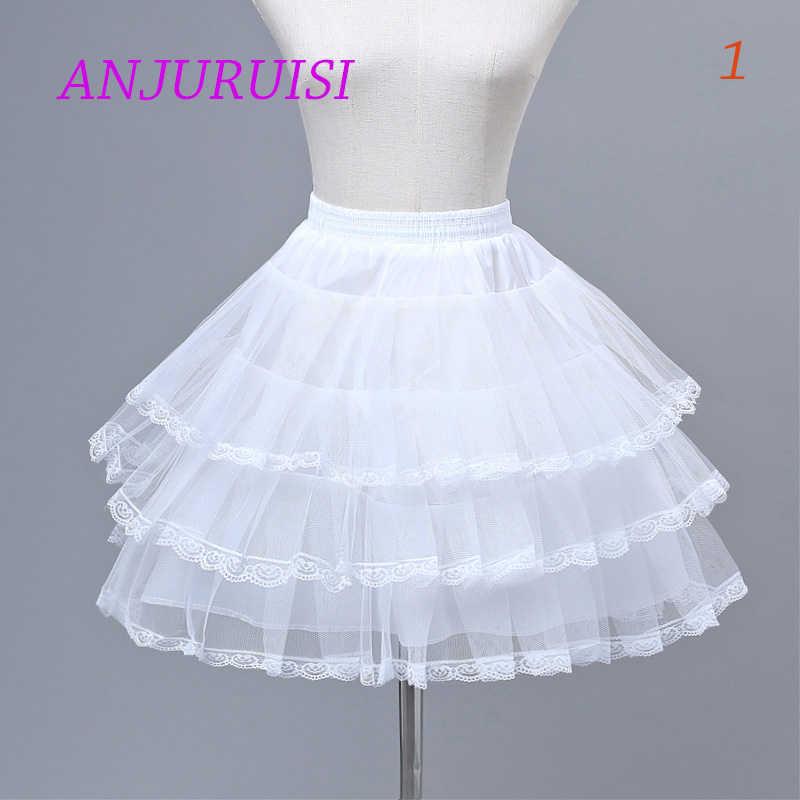 ANJURUISI ดอกไม้กระโปรงคอสเพลย์สั้น Petticoat Lolita Petticoat Ballet Tutu กระโปรง Rockabilly Crinoline