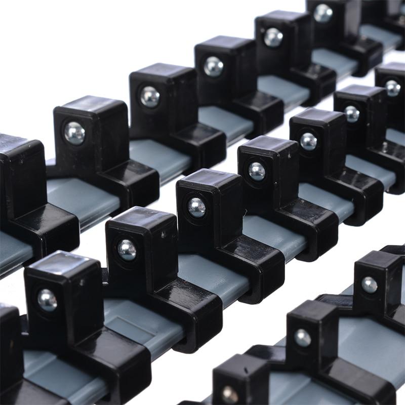 "Купить с кэшбэком 3pcs/set 1/4"" 3/8"" 1/2"" Plastic Socket Tray Rail Rack Storage Holder Organizer Shelf Stand Socket Wrench Holders Home Tools"