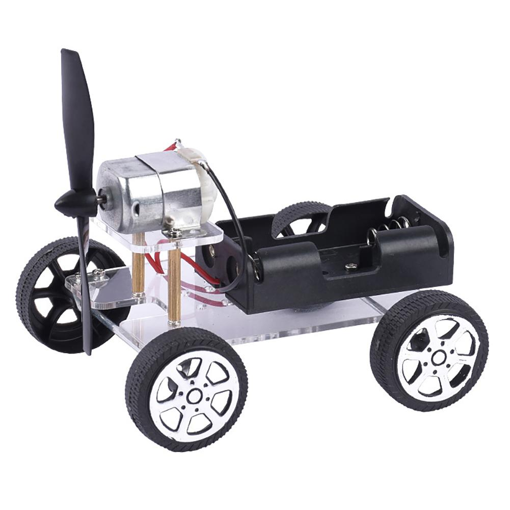 DIY Wind Car Model Technology Science Experiment Educational Toy Teach Kit Gift