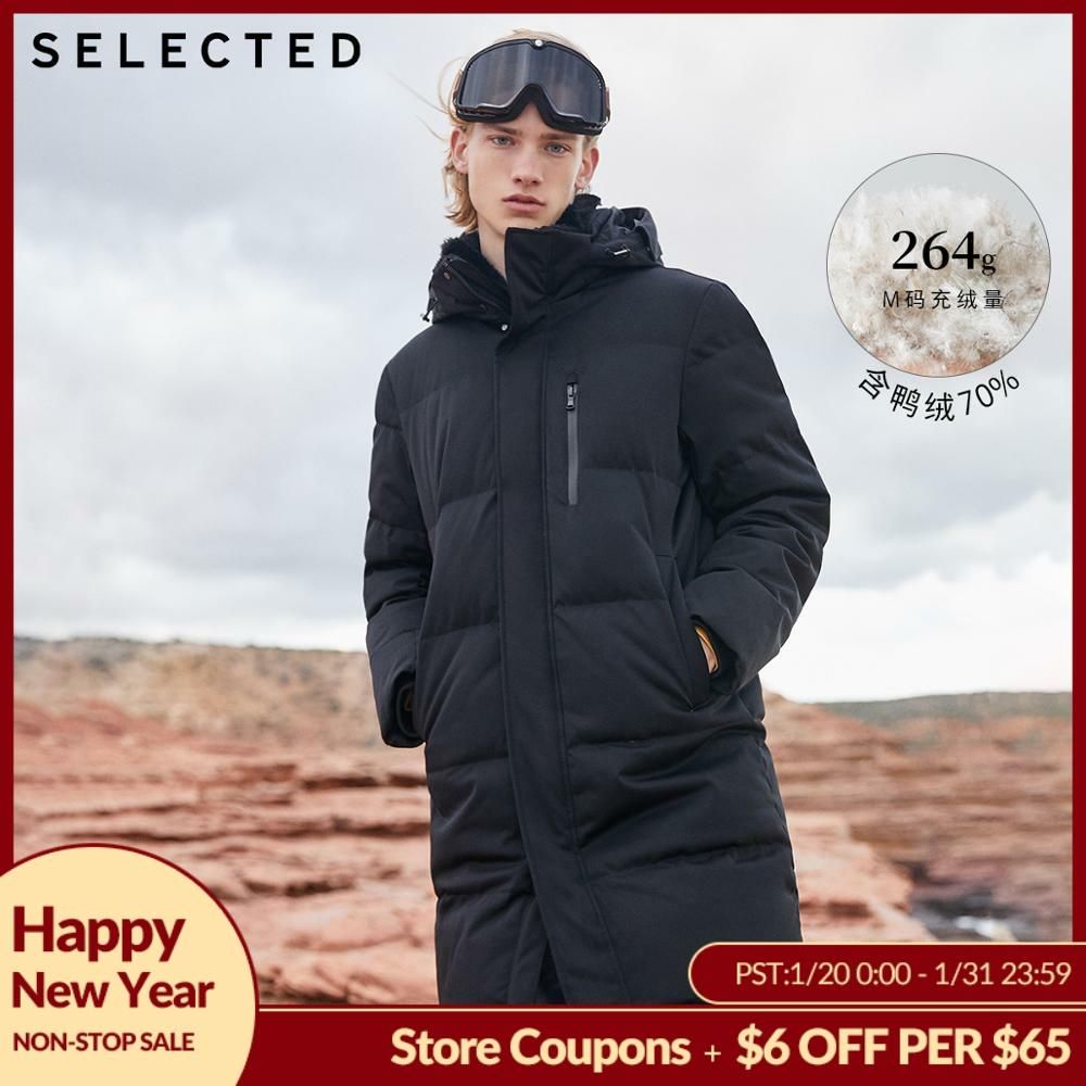 SELECTED Winter Down Jacket New Duck Down Clothes Double-Collar Parka Men's Mid-long Down Garment Warm Coat S | 418412526