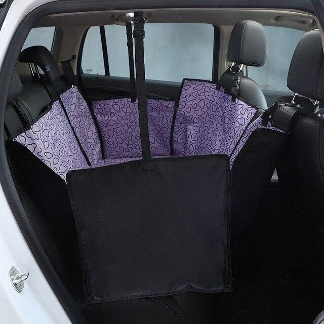 Assento traseiro de carro para cachorros, capa da moda, automática, assento traseiro, para animais de estimação, à prova d água, almofada protetor de assento