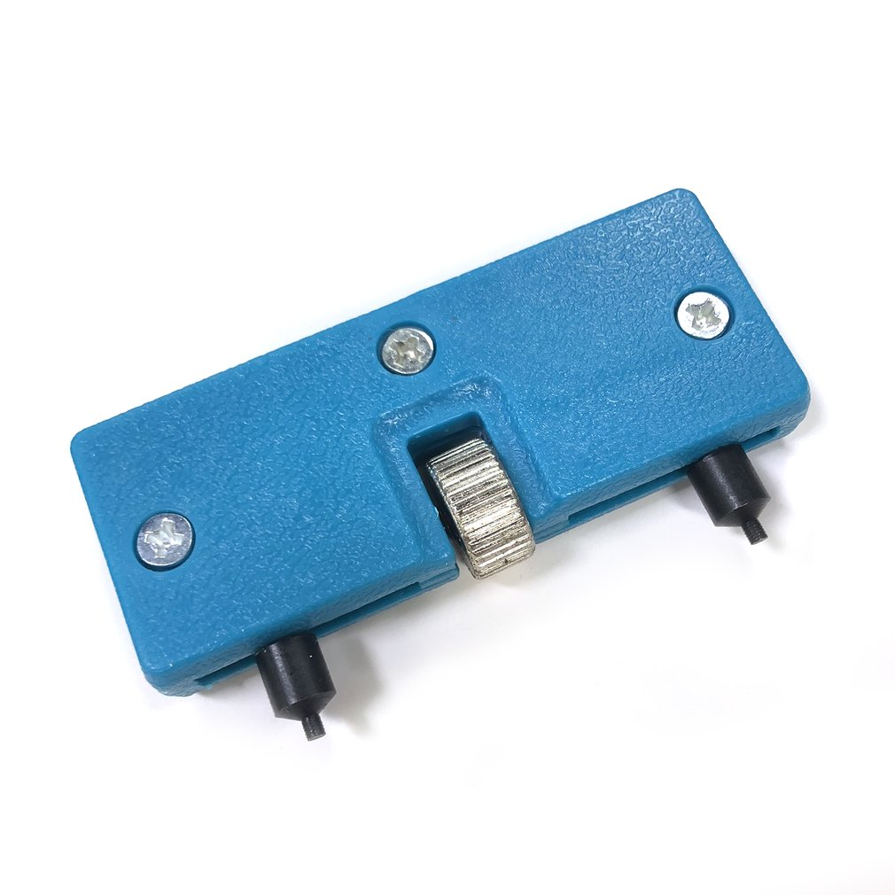 Portable Two-legged Large-caliber Opener Kit Adjustable Watch Back Case Opener Cover Screw Remover Wrench Repair Tool