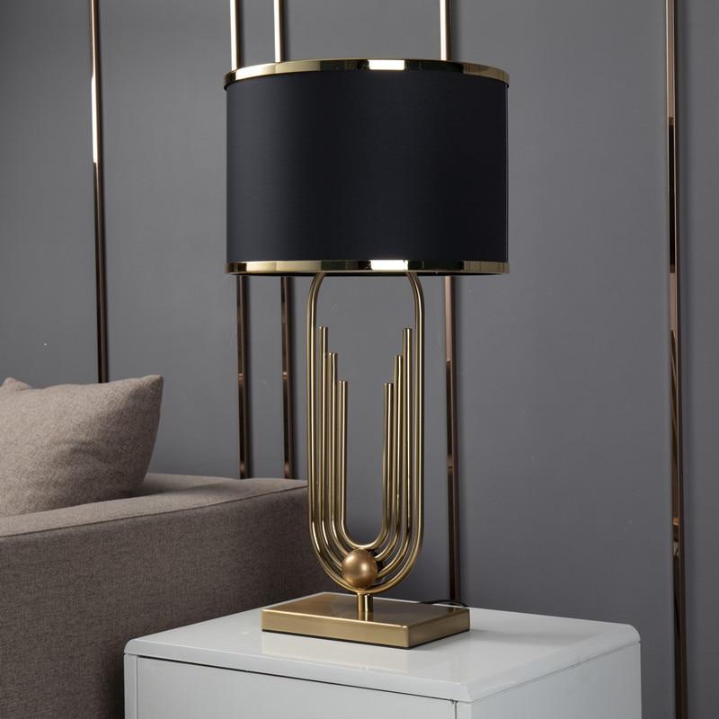 ouro moderno curva forma da tubulacao lampada 02