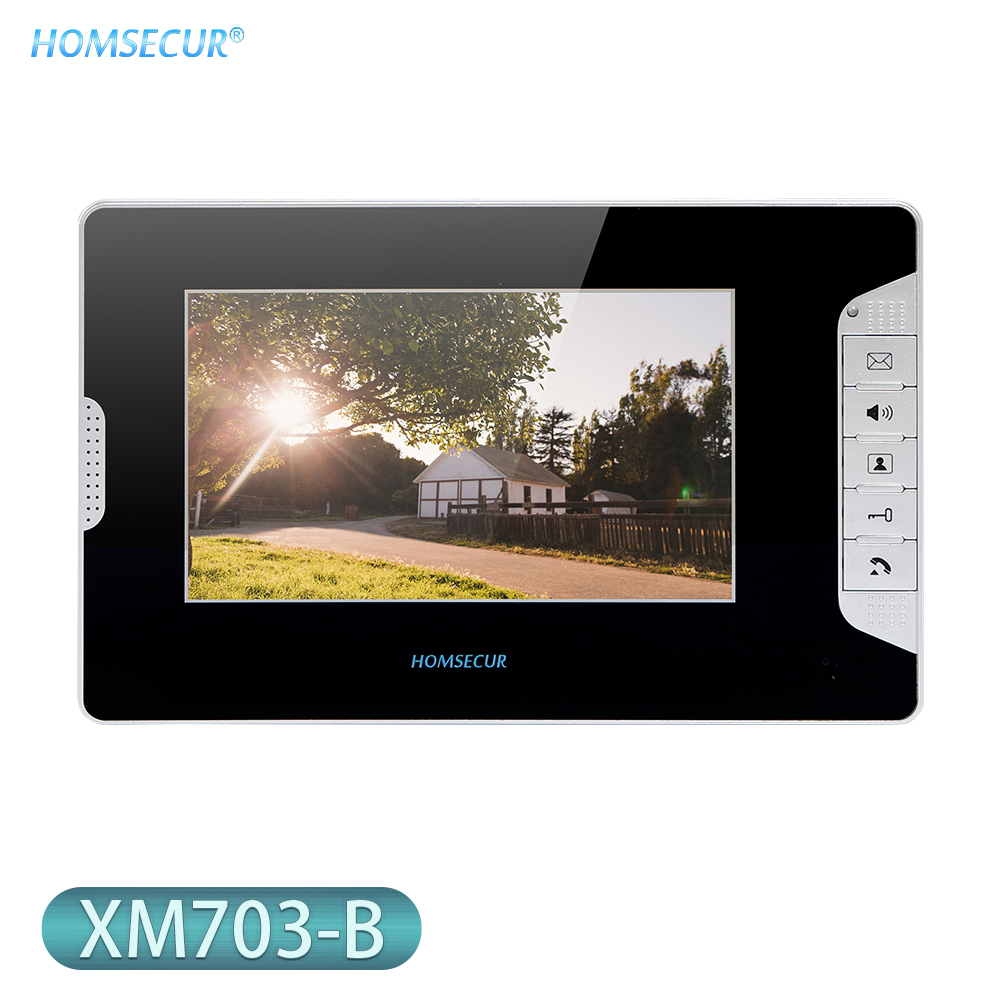 HOMSECUR 7inch TFT LCD 800×480 Video Door Phone Indoor Monitor XM703-B For Home Security