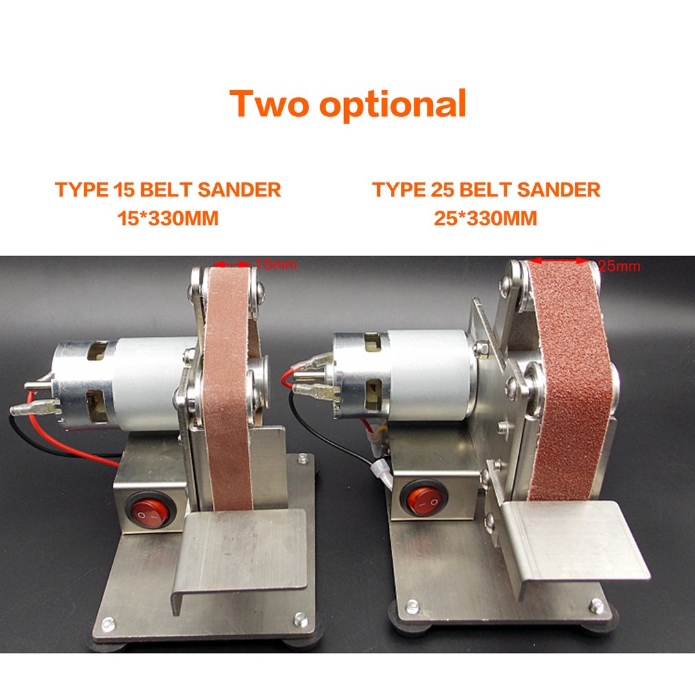 Multifunctional Grinder Mini Electric Belt Sander Polishing Grinding Machine Cutter Edges Sharpener Belt Grinder Sanding Sale
