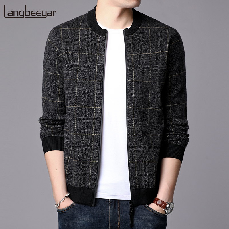 Top Grade 2020 New Fashion Jackets Mens Plaid High Street Trend Windbreaker Overcoat Mandarin Collar Casual Coat Men Clothing