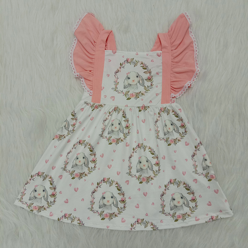 Ruffles Sleeveless Sundress Toddler Kids Clothes Outfits 6M-4Y Cute Baby Girls Floral Printed Dress Transer