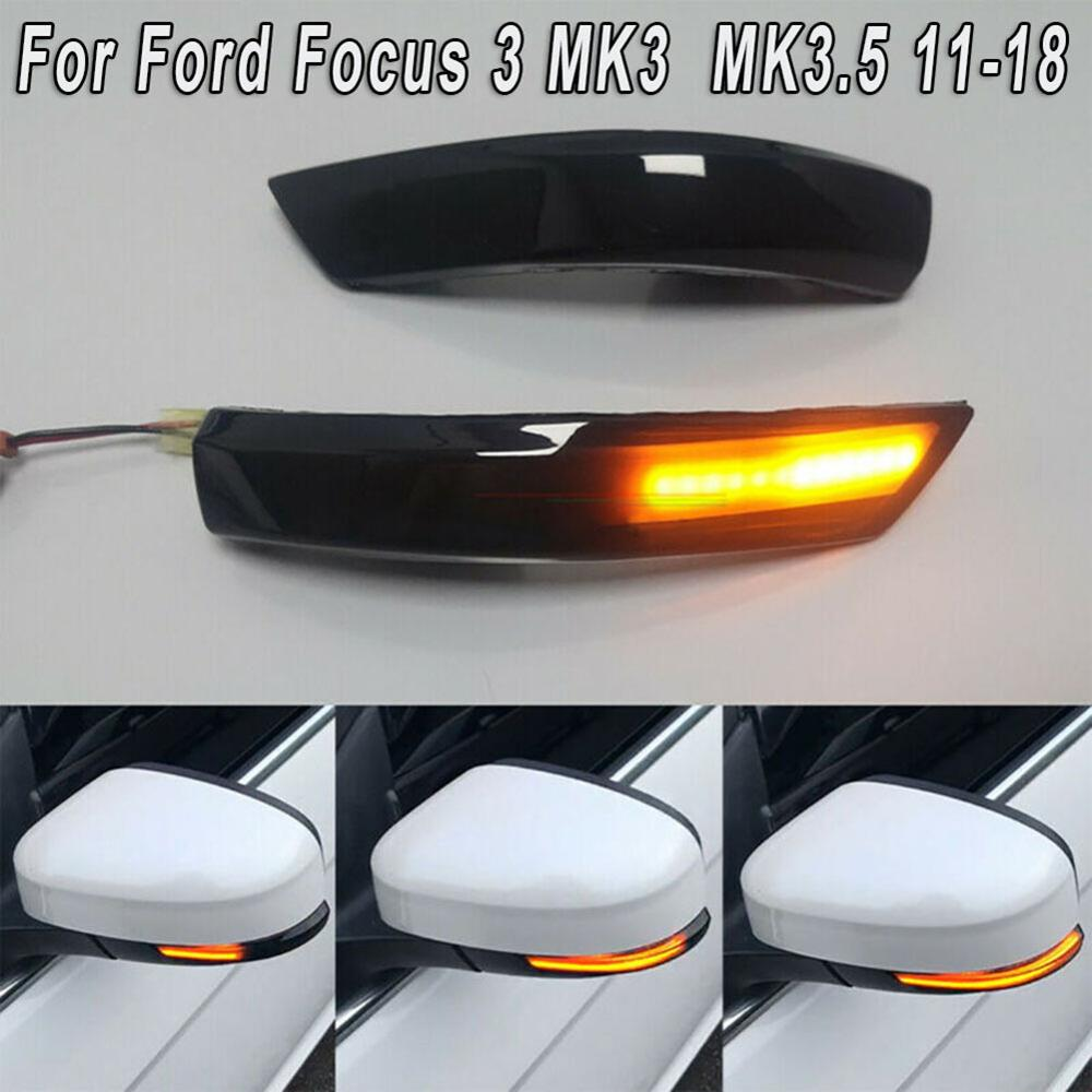Car Turn Signal Lights Auto Exterior Waterproof Dustproof Lamp Bulbs For Ford Focus MK3/MK3.5 2011-2018 Replacement accessories