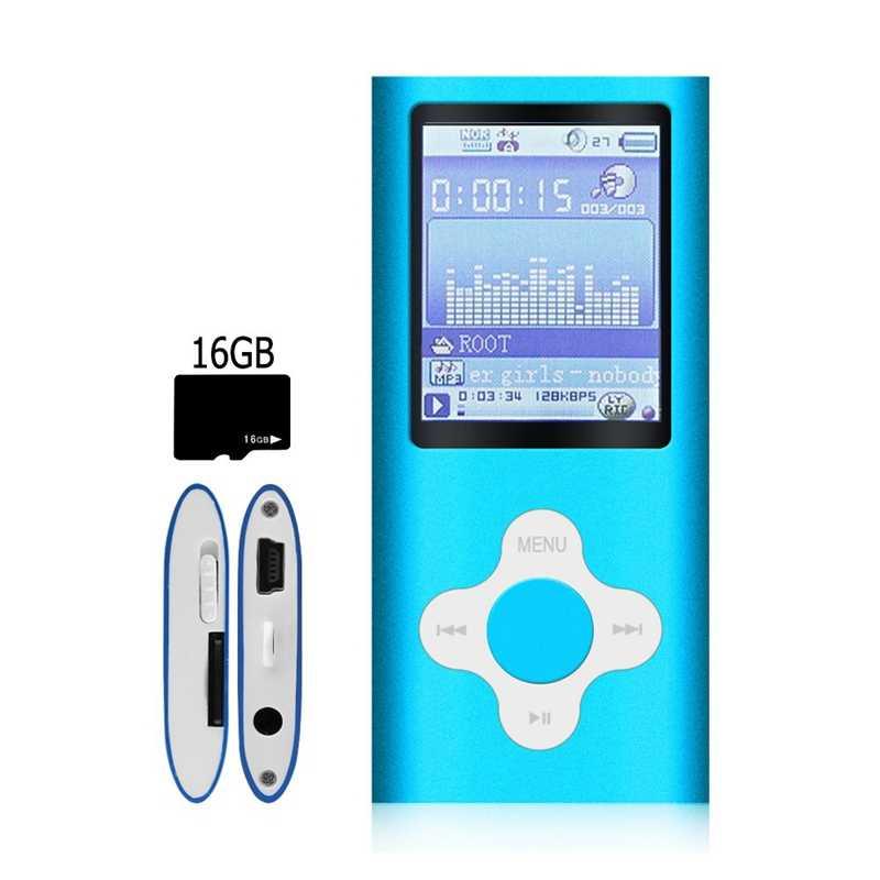 جديد-أنيق Mp3/Mp4 لاعب مع 16Gb مايكرو-Sd بطاقة ، دعم عارض الصور ، مصغرة Usb ميناء 1.8 Lcd ، الرقمية الموسيقى لاعب ، وسائل الإعلام Playe