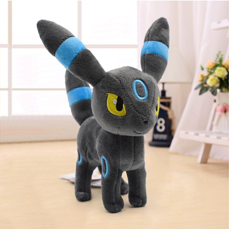 23cm Eevee Plush Doll Toys Anime Cartoon Umbreon Soft Stuffed Animal Plush For Children Christmas Best Gift Wholesale Price