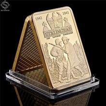 1942-1943 러시아 탱크 999/1000 Reichs Gold Bullion & Clad Bar 2 차 세계 대전 전쟁 Doom Challenge Collection Coins