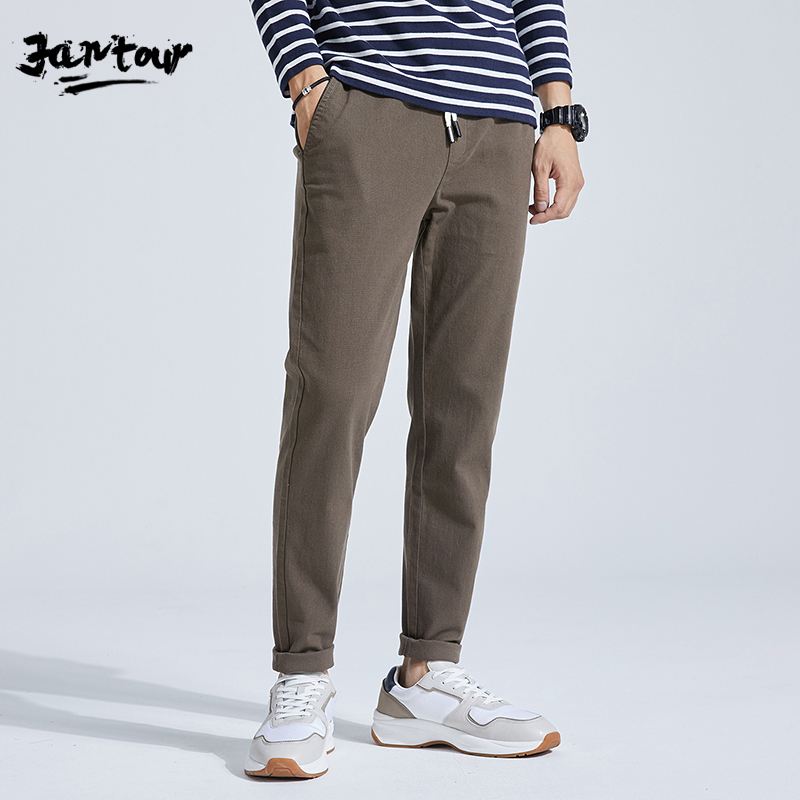 2020 Men's Spring Summer Fashion Business Casual Long Pants Suit Pants Male Elastic Straight Formal Trousers Plus Big Size 28-38
