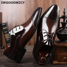 Офисная обувь; Мужская официальная итальянская брендовая элегантная обувь для мужчин; цвет коричневый; Coiffeur; Роскошные Дизайнерские вечерние туфли для мужчин; свадебные модельные туфли; коллекция года; большие