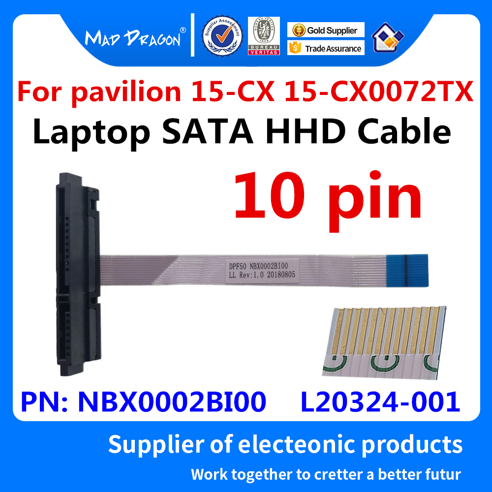 New Original Laptop HHD Cable Hard Disk Drive Cable For HP 15-CX 15-CX0072TX 15-CX0075TX 15-CX0071TX  NBX0002BI00  L20324-001