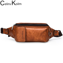 Celinv Koilm Casual Pack for Men Unisex Water Resistant Fashion Waist Bag with Adjustable Belt Waist Pack for Outdoor Running