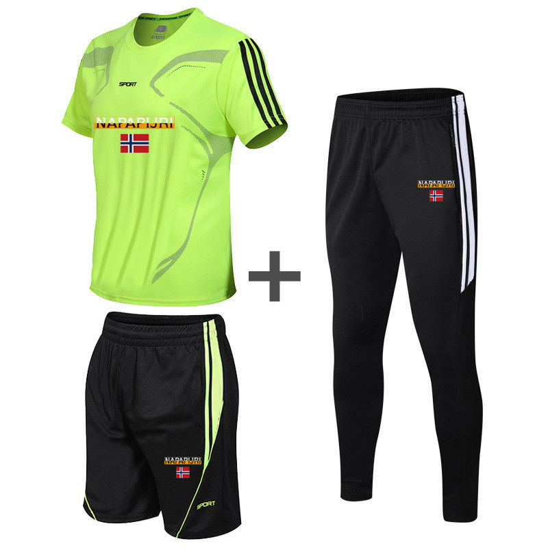 Closeout DealsTracksuit Clothing-Set Shorts T-Shirt Fitness Male Men's 3pieces-Sets Plus-Size Summer