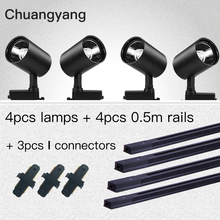 Track-Light-Lamps Store Led 12/20/30/40w-track-lighting-system for Clothing 1M Whole-Set
