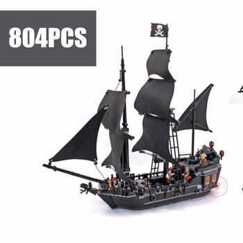 New The Black Pearl Pirates of Caribbean Ship Fit Legoings Pirates Red Ship Building Blocks Bricks 4184 Gift Kid Set Boy Diy Toy