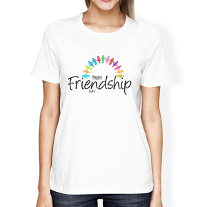 Lus Los Fashion casual white BFF Shirts Best Friend Forever T-Shirts Cute Matching Girls Tee Printed Letter drop ship