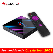 LEMFO H96 Max Smart TV Box Android 9.0 RK3318 4GB 32GB 64GB 4K HDR 2.4G & 5G Wifi BT4.0 USB 3.0 Airplay Goole Play Set Top Box(China)