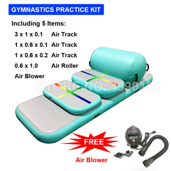 Free Shipping Airtrack Set Inflatable Gymnastic Mattress Gym Tumble Air Track Floor Tumbling Mat Yoga Exercise Kit