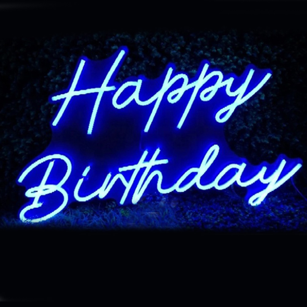 Custom Made Neon Sign for Happy Birthday Party LED Wall Lights Party Wedding Shop Window Restaurant Decoration|Neon Bulbs & Tubes|   - AliExpress