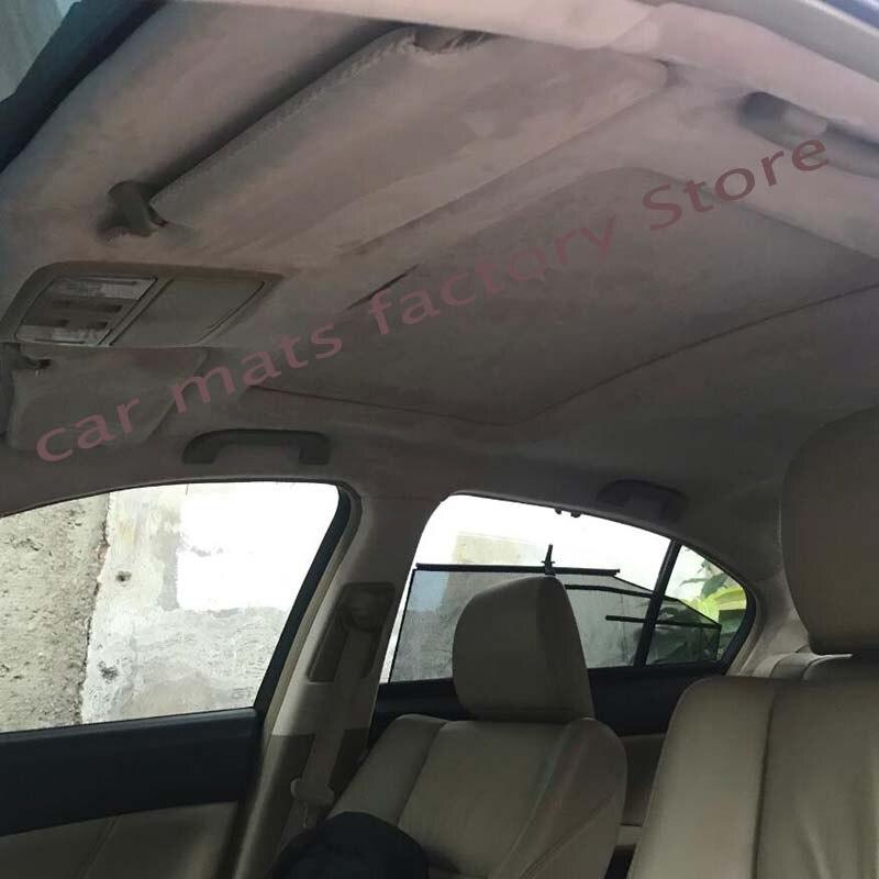 Tela do telhado do carro cair fora da tela de reparo camurça camurça interior ab coluna modificação cor mudança material remodelação