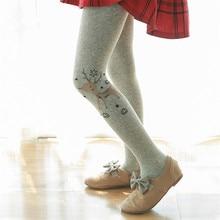 Christmas Deer Kids Girls Tights Children Pantyhose Autumn Winter Thicken Cotton Tights