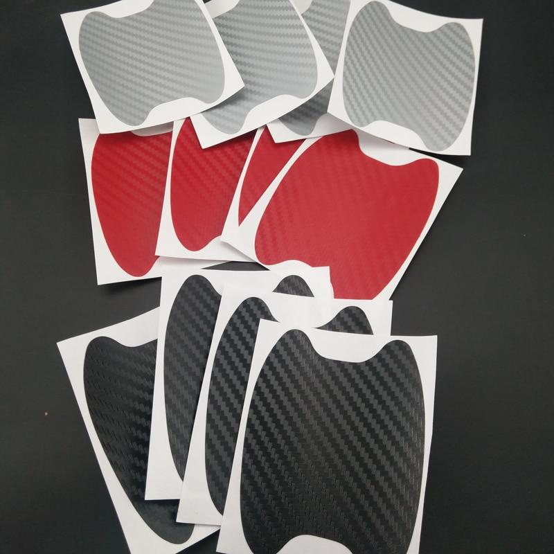 carbon fiber Side Door Handle protect decor Cover Trim For Audi A6 C7 2012-2018